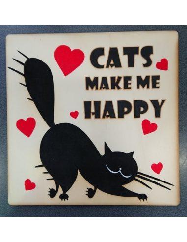 LESENA TABLICA mačke - po naročilu