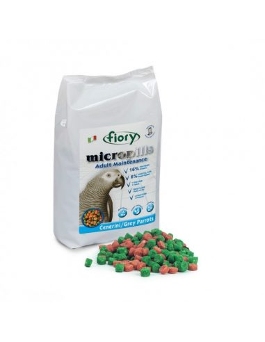 MICROPILLS ODRASLE PAPIGE GREY PARROTS 1,4 KG