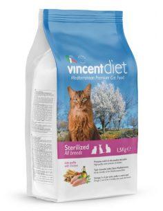 VINCENT Diet Cat Adult Sterilized 1,5KG