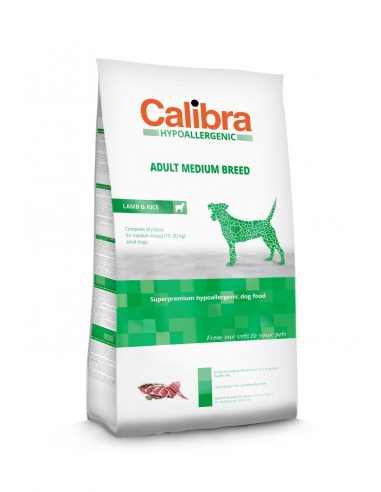 CALIBRA HYPOALLERGENIC ADULT MEDIUM JAGNJE IN RIŽ 14 KG