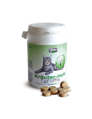 Grau ZELIŠČNE TABLETE s kvasom za mačke 75 tablet